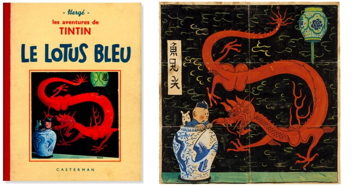 "A Rejected 1936 ""Tintin"" Cover Crowned as World's Most Expensive Comic Art for €3.2M 