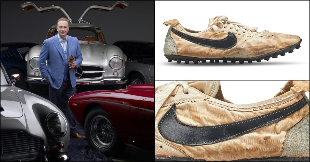 Nike Moon Shoe Sold For Record Breaking Us 437 500 To Collector Miles Nadal Auctions News The Value Art News